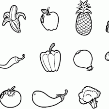 Small Picture Coloring Pages For Preschoolers Fruits And Vegetables Coloring