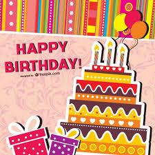 Cartoon Birthday Cards Vector Vector Free Download