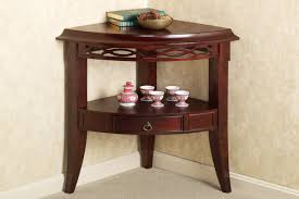 Small Corner Table With Shelves Delectable Small Corner Accent Table For Appealing Accent Furniture Storage