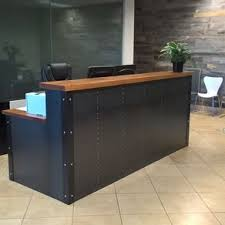 Office reception counter Shape Reception Industrial Reception Desk Olx Reception Desks For Offices Custom Reception Counters Custommadecom