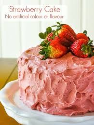 Strawberry Cake No Artificial Colour Or Flavour Added