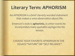 literary term aphorism an aphorism is a brief cleverly worded 1 literary term