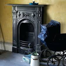 victorian style fireplace small cast iron combination fireplace in black finish victorian style electric fireplace inserts