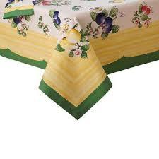 l fabric tablecloth in multi