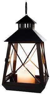 large black stagecoach lantern metal and glass hanging candle lantern