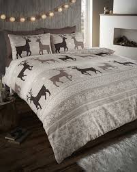 helsinki flannelette grey stag king quilt duvet cover and 2 pillowcase brushed cotton bedding bed set grey co uk kitchen home