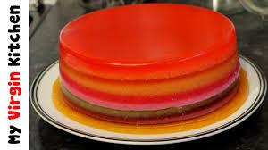 Jelly Birthday Cake Design How To Make A Jelly Jello Rainbow Cake