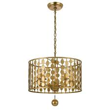 crystorama layla chandelier antique gold