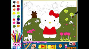 Small Picture Hello Kitty Online Color Pages Hello Kitty Coloring Games YouTube