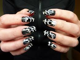 Water Marble Black White Nail Art Flickr