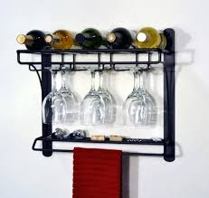 wine glass shelves wall mount furniture wine glass rack for wall lovely black painted metal wine