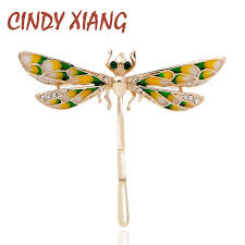 <b>CINDY XIANG New Design</b> Enamel Dragonfly Brooches for Women ...