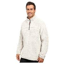 True Grit Size Chart True Grit Mens Frosty Tipped Pile 1 4 Zip Pullover Putty Large