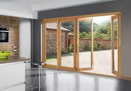 wood bifold patio doors