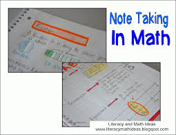 taking notes in math teacher s helper matte och id eacute er taking notes in math