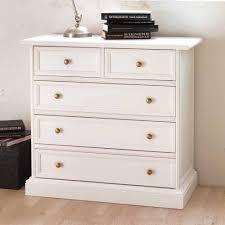 Schlafzimmer Kommode Laviette In Weiß Mit 5 Schubladen