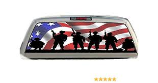 Amazon.com: Crabtree Signs Soldiers- American Flag- 17 Inches-by-56 ...