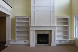 Paint Grade Cabinets Kensington Wrap Craftsman Mantel Paint Grade With Wall To Wall