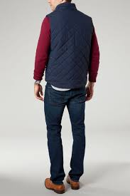 Lyst - Tommy hilfiger Quilted Browning Vest in Blue for Men & Gallery Adamdwight.com