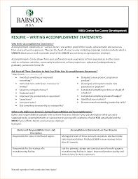 Example Achievements For Resume Resume Achievement Statements Examples Examples Of Resumes 19