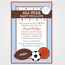 Cute Invites For A Boy Baby Shower Sports Theme  Future Dreams Baby Shower Invitations Sports Theme