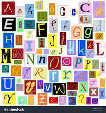 stock photo alphabet magazine letters isolated so you can make your own unique words tiff file has individual