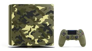 sony ps4 console. new limited-edition bundle includes a custom-designed 1tb ps4 console, complete with matching dualshock 4 controller and copy of call duty: wwii. sony ps4 console