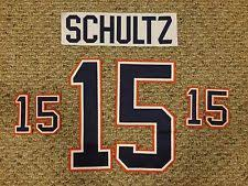 schultz name. edmonton oilers nick schultz name and number kit game worn jersey nhl