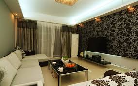 Modern Wallpaper Designs For Living Room Magnificent Wallpaper Designs For Living Room With Art Decorative