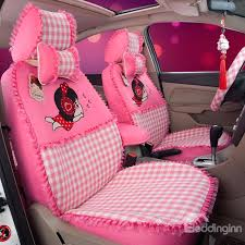 car seat covers girly cute girly figures squares pattern with laced sides custom fit car seat car seat covers girly