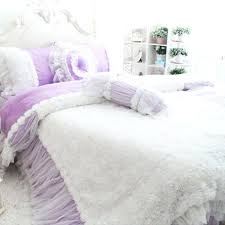 light purple bedding sets rose ruffle duvet cover set light purple pastel purple bed sheets