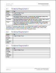 Research Document Template Functional Requirements Specification Template Ms Word Templates