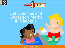 Third Grade Use Commas And Quotation Marks In Dialogue Lesson