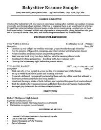 Babysitting Resume Templates Interesting Babysitter Resume Sample Writing Tips Resume Companion Resume