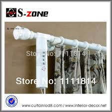 1meter motorized curtain rod system remote curtain system white electric curtain motor dry rod