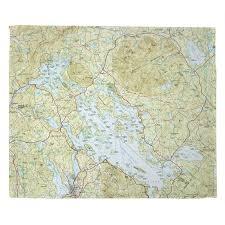 Nh Lake Winnipesaukee Nh Nautical Topo Map Blanket