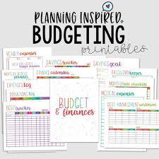 Printable Budget Worksheet Sets Planning Inspired