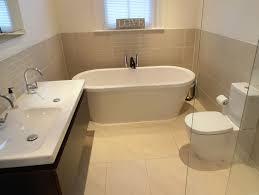 Bathroom Installations · Gloss White Bathroom Fitted Vanity Basin Half Tiled  ...
