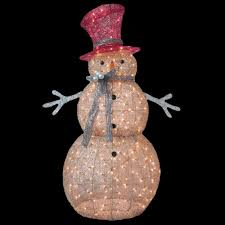 Home Accents Outdoor Christmas Decorations 100100 Home Accents Holiday 100 ft PreLit Gold SnowmanTY100 14