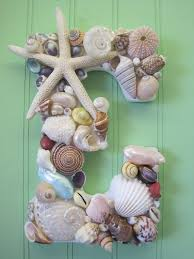 Beach Decor Shell Letters - Colorful Shell Letters - Shell Initial - Wooden  Letters - Beach Wedding - Gift - Colored Seashell Letters