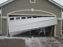 how to realign a crooked garage door that has come off track