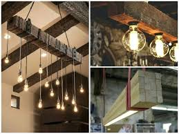 diy wood chandelier reclaimed wood beams best wood lamps restaurant bar chandeliers diy wood stick chandelier