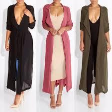 long coats for women 2017 spring new fashion casual wo0027s trench coat chiffon long outerwear