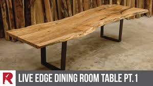 furniture design table. Making A Live Edge Dining Table Part 1 Rocket Design Furniture .