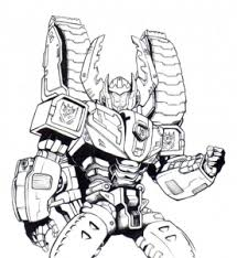 Transformers Free Printable Coloring Pages For Kids