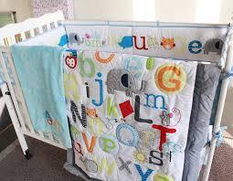 alphabet crib sheet 8 piece cotton baby crib bedding set quality letter newborn baby