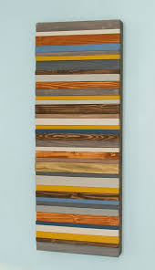wood art holz wand kunst modern 3d abstrakt dünne holzstreifen handgemalt