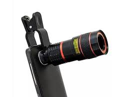 This telephoto lens adds 8x zoom to your smartphone camera