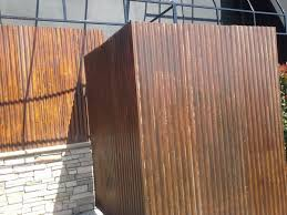 rusted corrugated metal fence. Unique Corrugated Weathering Steel In Bar And Rusted Corrugated Metal Fence R