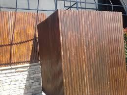 rusty sheet metal fence. Interesting Metal Weathering Steel In Bar Throughout Rusty Sheet Metal Fence E